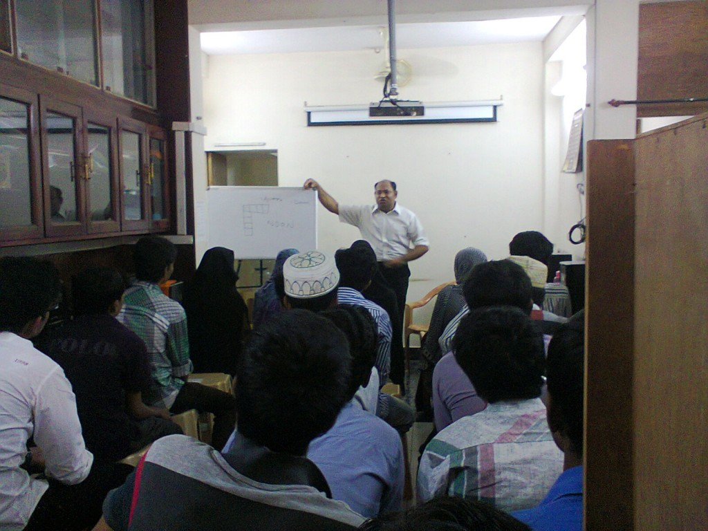 Mr. Ramesh conducting the Workshop